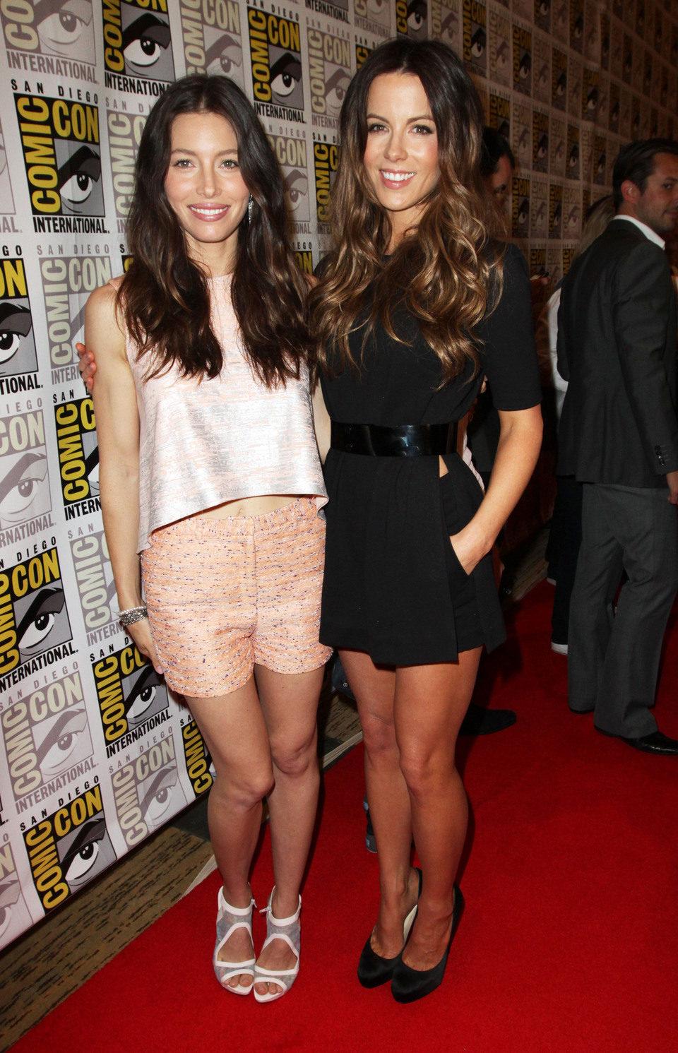 Kate Beckinsale y Jessica Biel en la Comic-Con 2011