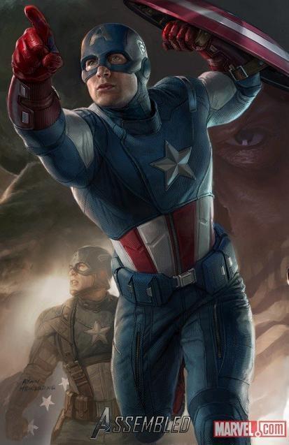 Chris Evans es Capitán América en 'Los Vengadores'