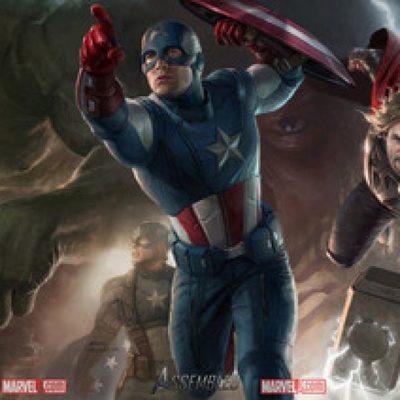 Banner con los protagonistas de 'Los Vengadores'
