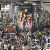 Vista superior de un hall de la Comic-Con 2011