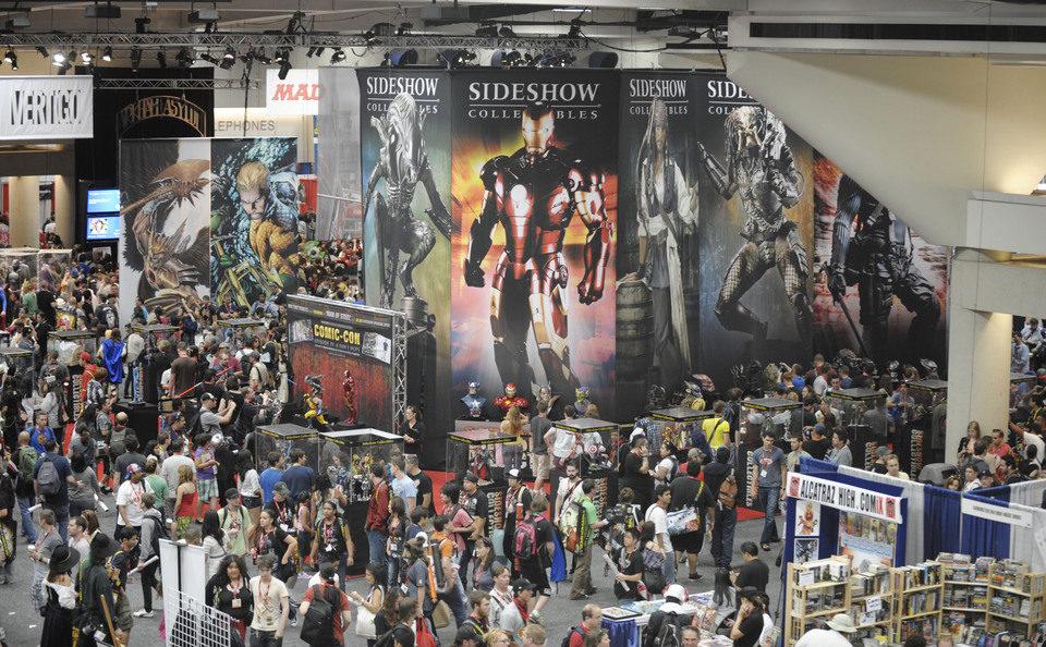 Vista superior de un hall de la Comic-Con 2011