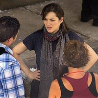 Marion Cotillard en el set de 'The Dark Knight rises'