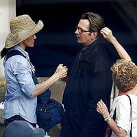 Gary Oldman se maquilla en el rodaje de 'The Dark Knight rises'