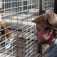 Matt Damon saluda al tigre de 'We bought a zoo'