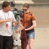 Anne Hathaway en el set de 'El Caballero Oscuro: La leyenda renace'