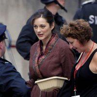 Marion Cotillard en el set de 'El Caballero Oscuro: La leyenda renace'
