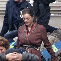 Marion Cotillard rueda una nueva escena de 'El Caballero Oscuro: La leyenda renace'