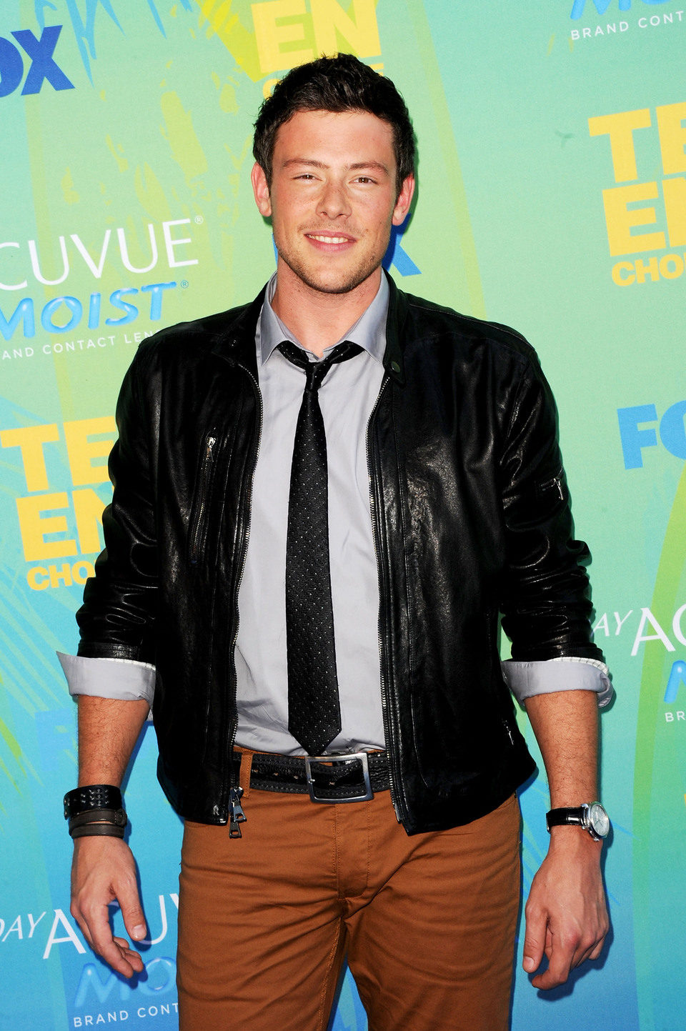 Cory Monteith en el photocall de los Teen Choice Awards 2011