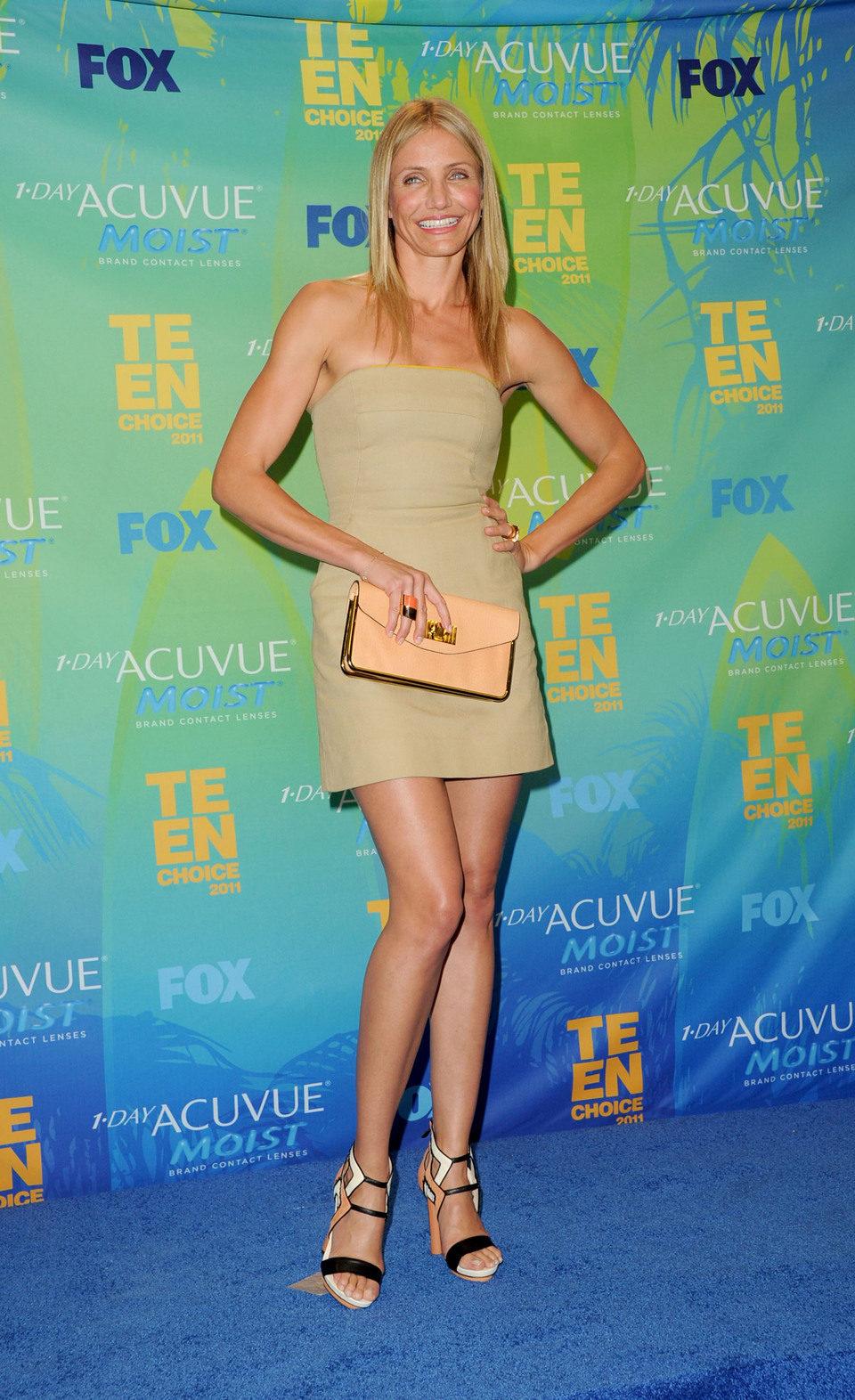 Cameron Diaz en el photocall de los Teen Choice Awards 2011