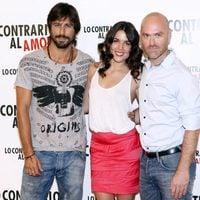 Hugo Silva y Adriana Ugarte junto al director de 'Lo contrario al amor'