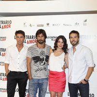 Rubén Sanz, Hugo Silva, Adriana Ugarte y Álex Barahona, de 'Lo contrario al amor'