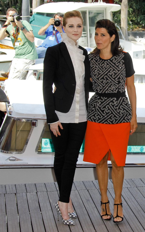 Evan Rachel Wood y Marisa Tomei presentan en el Festival de Venecia 'The Ides of March'