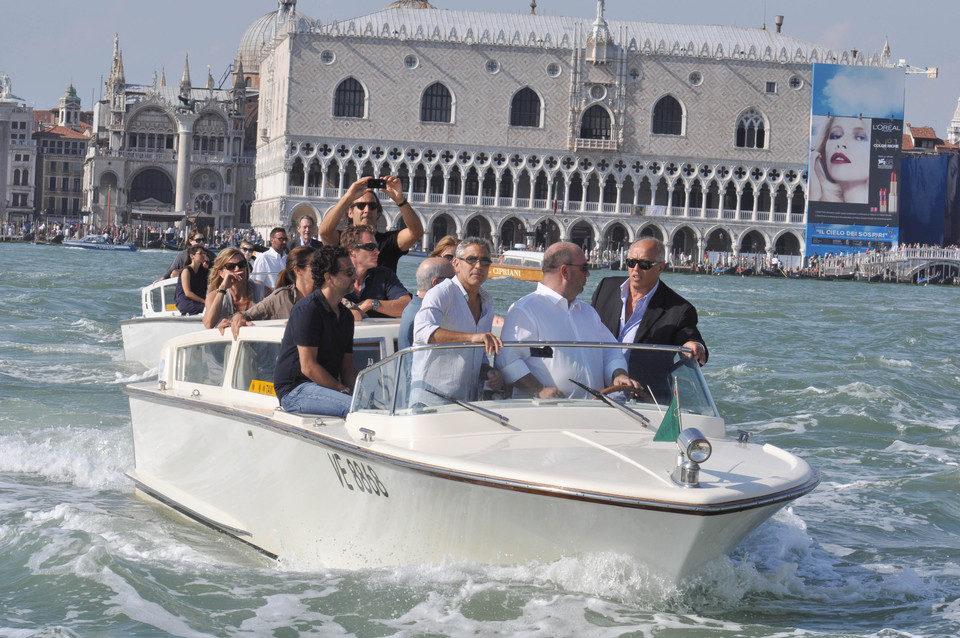 George Clooney, primero en llegar al Festival de Venecia