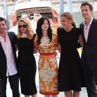 El equipo de 'W.E.' en el Festival de Venecia
