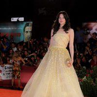 Andrea Riseborough, protagonista de 'W.E.', en el Festival de Venecia