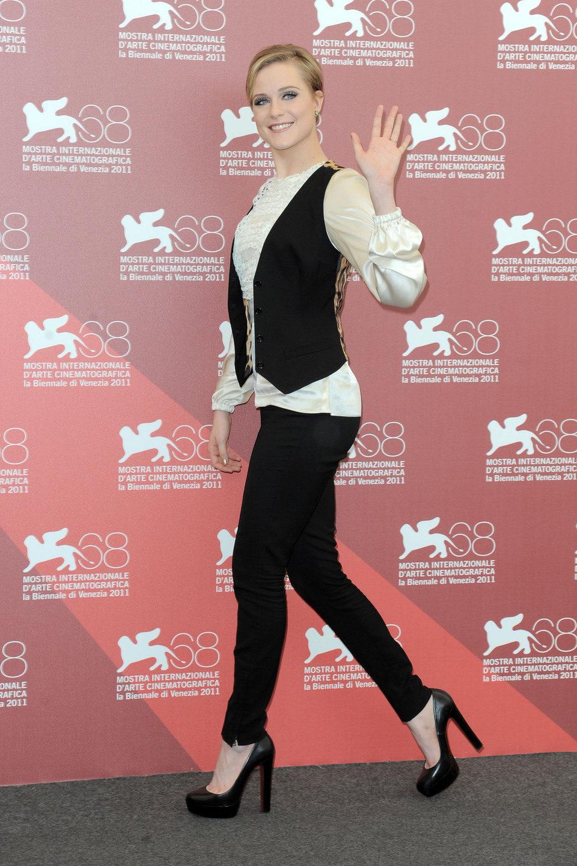 Evan Rachel Wood presenta 'Mildred Pierce' en el Festival de Venecia