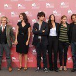 El equipo de 'Un Ete Brulant' en el Festival de Venecia