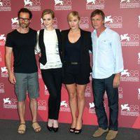 El equipo de 'Mildrerd pierce' en el Festival de Venecia