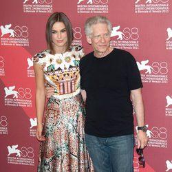 Keira Knightley y David Cronenberg en el Festival de Venecia