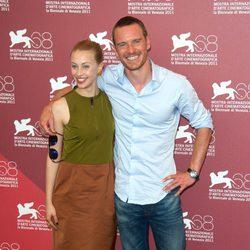 Michael Fassbender y Sarah Gadon en el Festival de Venecia