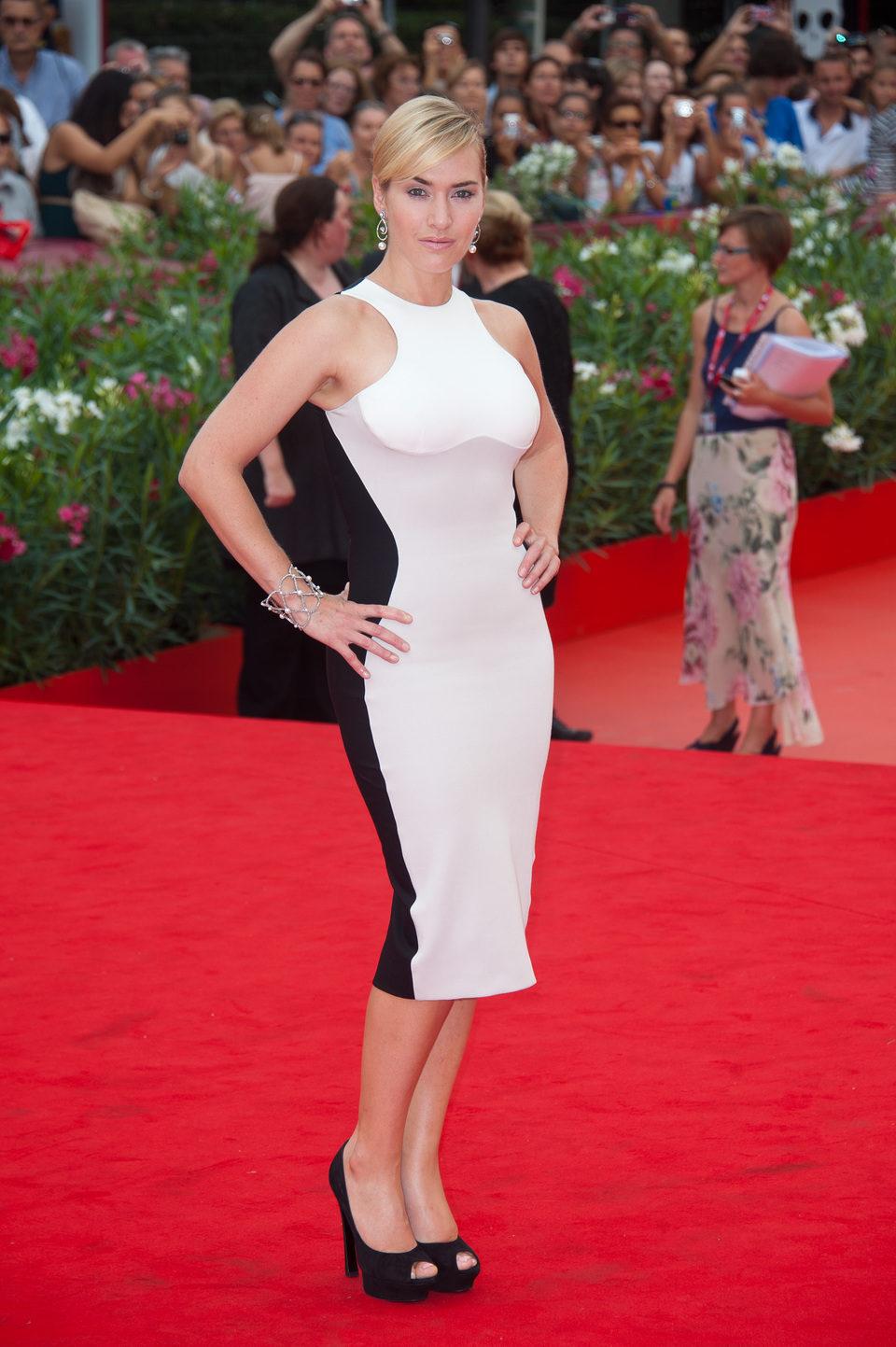 Kate Winslet en la première de 'Mildred pearce' en Venecia