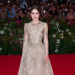 Keira Knightley de Valentino en el Festival de Venecia