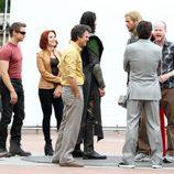El equipo de 'Los Vengadores' durante el rodaje