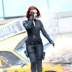Viuda Negra, Scarlett Johansson, en el set de 'Los Vengadores'