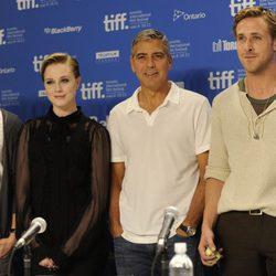 Max Minghella, Evan Rachel Wood, George Clooney y Ryan Gosling presentan 'The ides of march' en Toronto