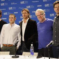 Chris Pratt, Jonah Hill, Brad Pitt, Philip Seymour Hoffman y Bennett Miller presentan 'Moneyball' en Toronto
