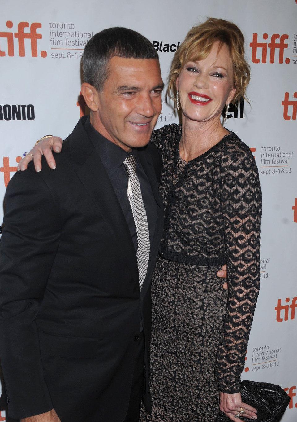 Antonio Banderas y Melanie Grifftih en la premiére de 'La piel que habito' en el TIFF