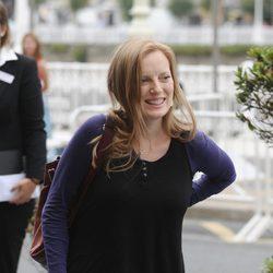 Sarah Polley sonríe en el Festival de San Sebastián
