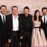 Juanjo Artero, José Coronado, Enrique Urbizu, Helena Miquel y Rodolfo Sancho en San Sebastián