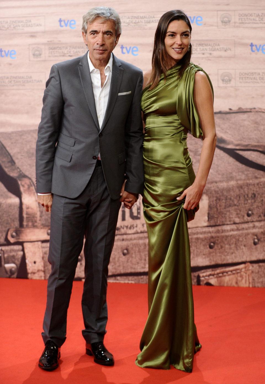 Imanol Arias e Irene Meritxell en la inauguración de San Sebastián