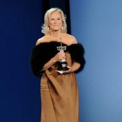 Glenn Close, muy feliz con su premio en Donostia