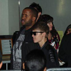 Justin Bieber llega a la premiére de 'Sin salida'