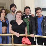 El equipo de 'El precio de la libertad' en San Sebastián