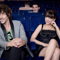 Óscar Jaenada y Leticia Dolera en la entrega del Donostia Film Comission