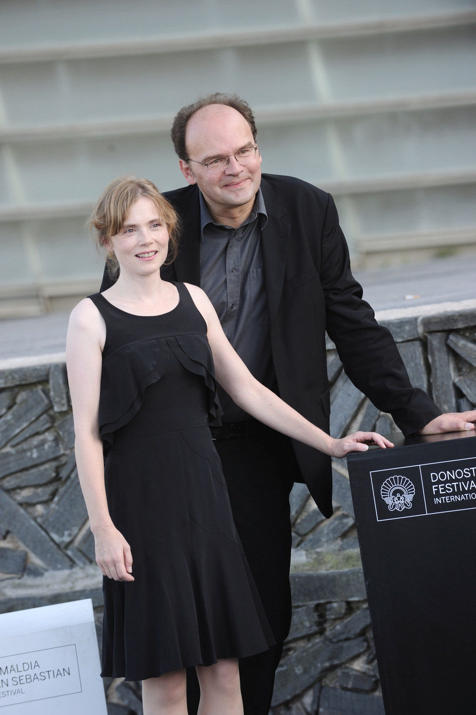 Isabelle Carre y Jean Pierre Ameris posan en San Sebastián