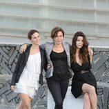 Cleia Almeida, Rita Blanco y Anabela Moreira saludan en San Sebastián