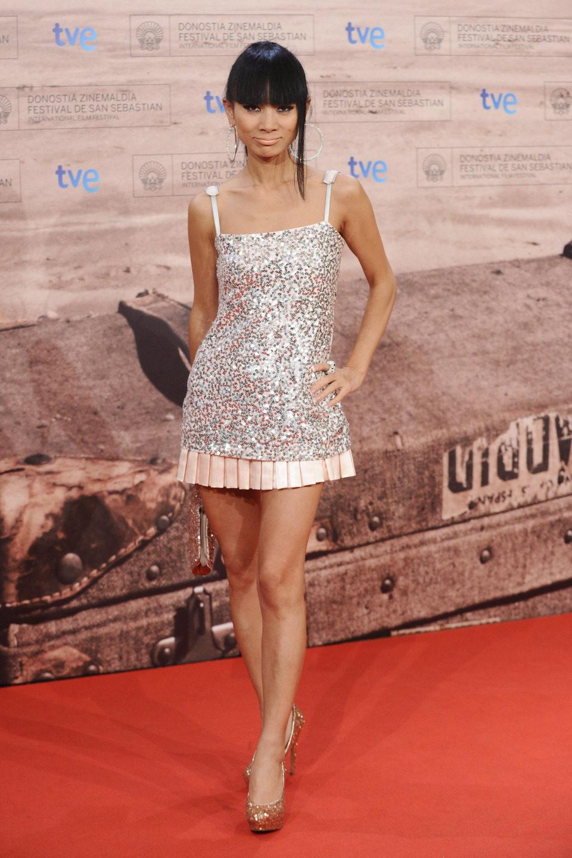 Bai Ling en la premiére de 'El gato con botas' en San Sebastián
