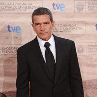 Antonio Banderas en la premiére de 'El gato con botas'