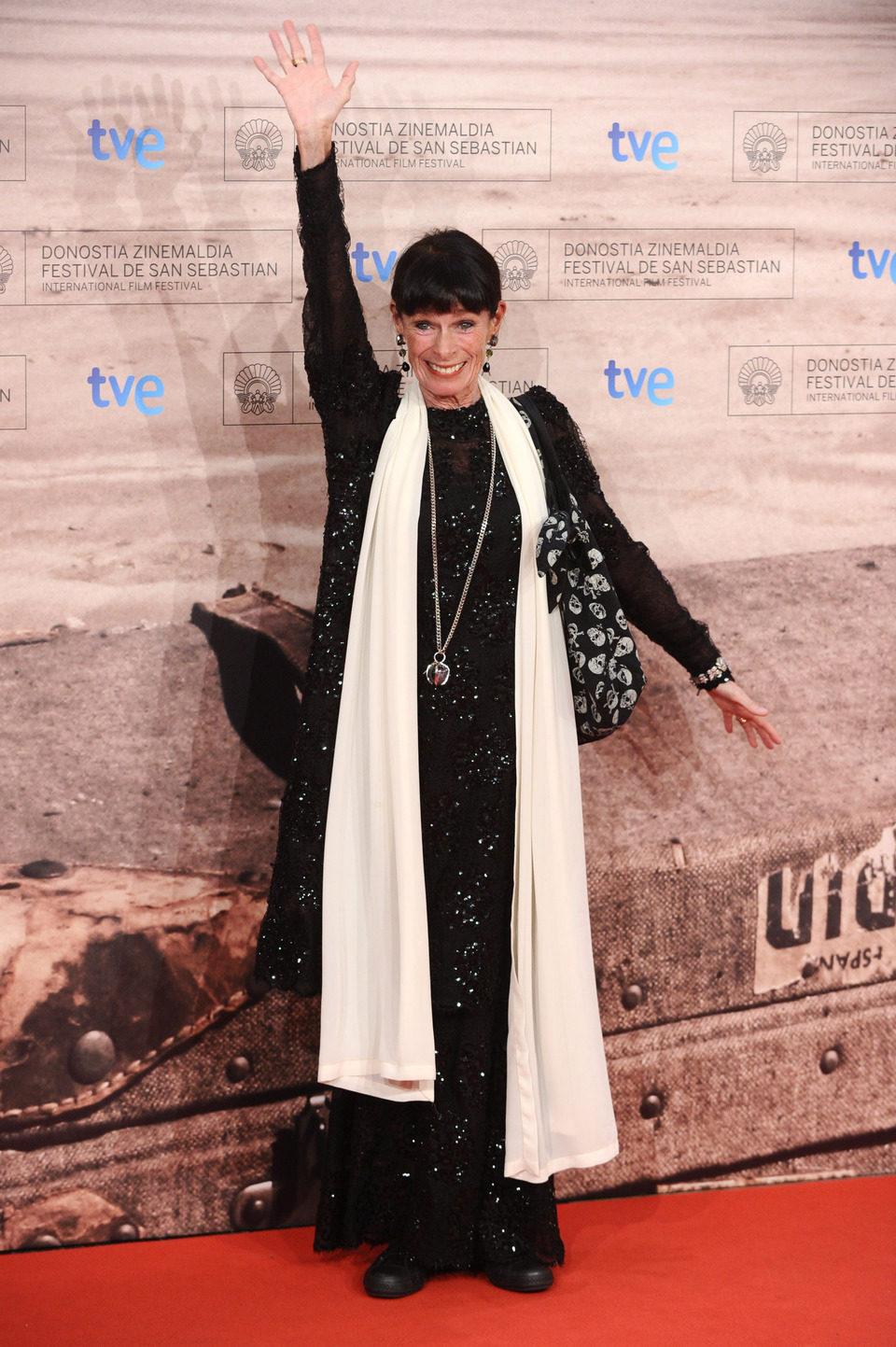 Geraldine Chaplin en la premiére de 'Americano' en San Sebastián
