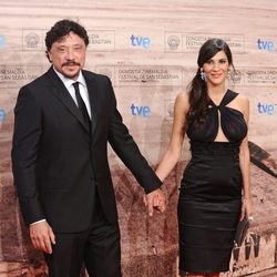 Carlos Bardem y Cecilia Gessa en la gala de clausura de Zinemaldia