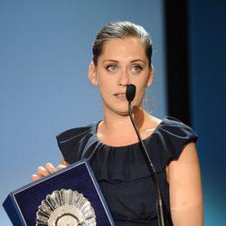 María León recoge la Concha de Plata a mejor actriz