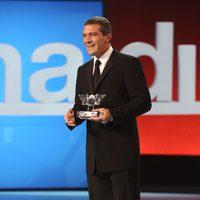 Antonio Banderas en la gala de clausura de Zinemaldia
