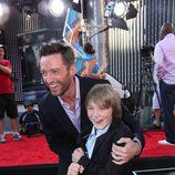Hugh Jackman y Dakota Goyo presentan 'Acero puro'