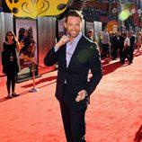 Hugh Jackman posa en la alfombra roja de los estudios Universal