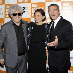 Pedro Almodóvar, Elena Anaya y Antonio Banderas presentan 'La piel que habito en Nueva York'