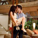 Kristen Stewart y Robert Pattinson celebran su compromiso en 'Amanecer: Parte 1'